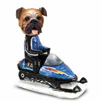 Bulldog Snowmobile Doogie Collectable Figurine
