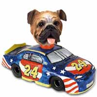 Bulldog Race Car Doogie Collectable Figurine