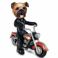 Bulldog Motorcycle Doogie Collectable Figurine