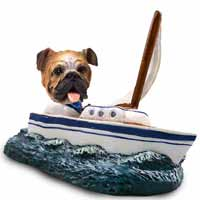 Bulldog Sailboat Doogie Collectable Figurine
