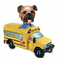 Bulldog School Bus Doogie Collectable Figurine
