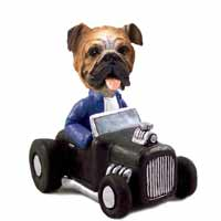 Bulldog Hot Rod Doogie Collectable Figurine