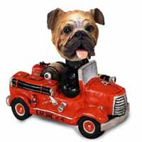 Bulldog Fire Engine Doogie Collectable Figurine