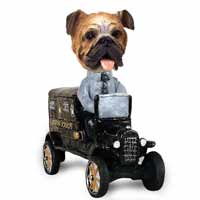 Bulldog Paddy Wagon Doogie Collectable Figurine
