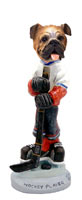 Bulldog Hockey Player Doogie Collectable Figurine