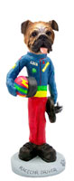 Bulldog Racecar Driver Doogie Collectable Figurine
