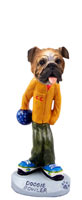 Bulldog Bowler Doogie Collectable Figurine