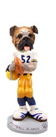 Bulldog Football Player Doogie Collectable Figurine