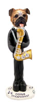 Bulldog Saxophonist Doogie Collectable Figurine