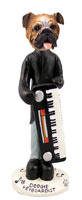 Bulldog Keyboardist Doogie Collectable Figurine