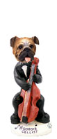 Bulldog Cellist Doogie Collectable Figurine