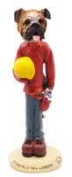 Bulldog Construction Worker Doogie Collectable Figurine