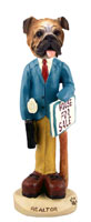 Bulldog Realtor (male) Doogie Collectable Figurine