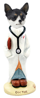 Chihuahua Black & White Doctor Doogie Collectable Figurine