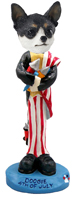 Chihuahua Black & White 4th of July Doogie Collectable Figurine