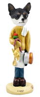 Chihuahua Black & White Chef Doogie Collectable Figurine