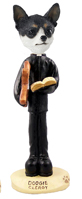 Chihuahua Black & White Clergy Doogie Collectable Figurine
