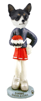 Chihuahua Black & White Cheerleader Doogie Collectable Figurine
