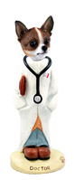 Chihuahua Brindle & White Doctor Doogie Collectable Figurine