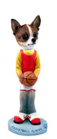 Chihuahua Brindle & White Basketball Doogie Collectable Figurine