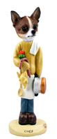 Chihuahua Brindle & White Chef Doogie Collectable Figurine