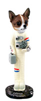 Chihuahua Brindle & White Astronaut Doogie Collectable Figurine