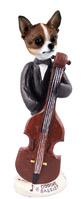 Chihuahua Brindle & White Bassist Doogie Collectable Figurine