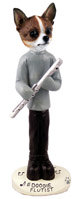 Chihuahua Brindle & White Flutist Doogie Collectable Figurine