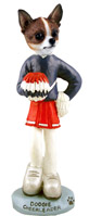Chihuahua Brindle & White Cheerleader Doogie Collectable Figurine