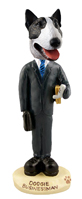 Bull Terrier Brindle Businessman Doogie Collectable Figurine