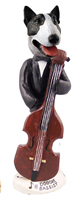 Bull Terrier Brindle Bassist Doogie Collectable Figurine
