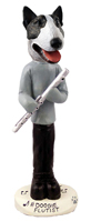 Bull Terrier Brindle Flutist Doogie Collectable Figurine
