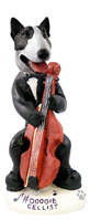 Bull Terrier Brindle Cellist Doogie Collectable Figurine