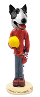 Bull Terrier Brindle Construction Worker Doogie Collectable Figurine