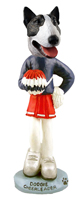 Bull Terrier Brindle Cheerleader Doogie Collectable Figurine