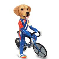 Golden Retriever Bicycle Doogie Collectable Figurine