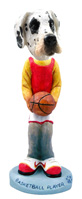 Great Dane Harelquin Uncropped Basketball Doogie Collectable Figurine