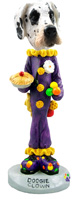 Great Dane Harelquin Uncropped Clown Doogie Collectable Figurine
