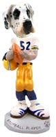 Great Dane Harelquin Uncropped Football Player Doogie Collectable Figurine