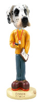 Great Dane Harelquin Uncropped Coach Doogie Collectable Figurine
