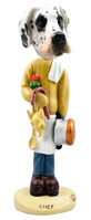 Great Dane Harelquin Uncropped Chef Doogie Collectable Figurine