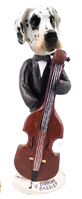 Great Dane Harelquin Uncropped Bassist Doogie Collectable Figurine