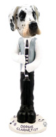 Great Dane Harelquin Uncropped Clarinetist Doogie Collectable Figurine
