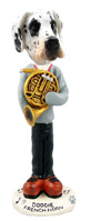 Great Dane Harelquin Uncropped French Horn Doogie Collectable Figurine