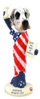 Great Dane Harelquin Uncropped American Doogie Collectable Figurine