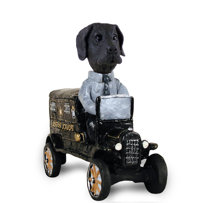Great Dane Black w/Uncropped Ears Paddy Wagon Doogie Collectable ...