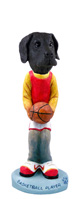 Great Dane Black w/Uncropped Ears Basketball Doogie Collectable Figurine