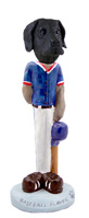 Great Dane Black w/Uncropped Ears Baseball Doogie Collectable Figurine