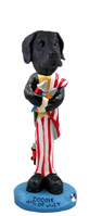 Great Dane Black w/Uncropped Ears 4th of July Doogie Collectable Figurine