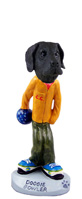 Great Dane Black w/Uncropped Ears Bowler Doogie Collectable Figurine